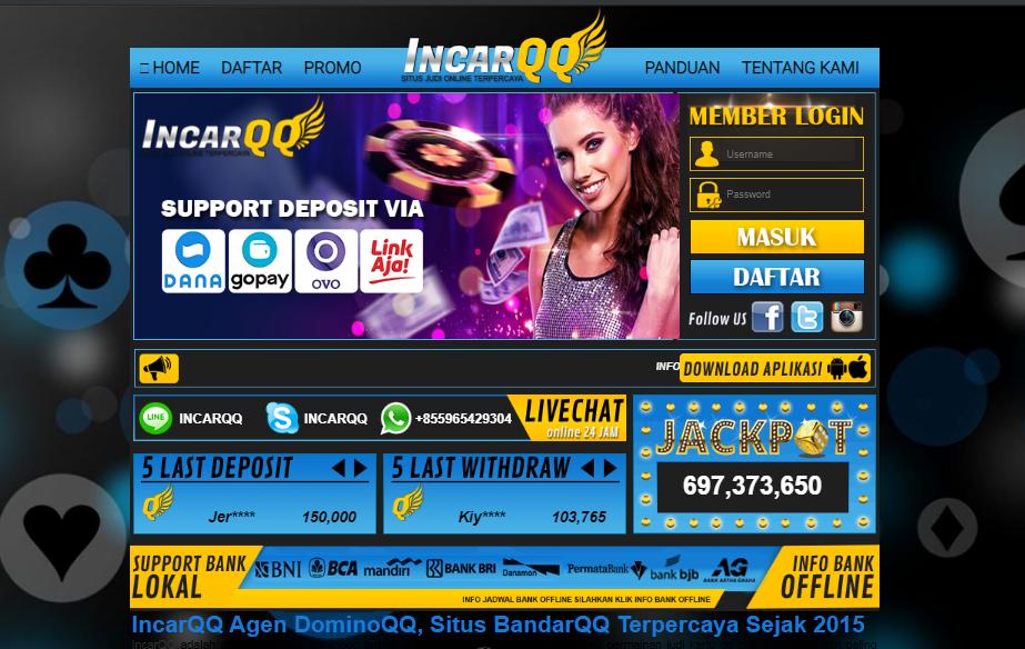 IncarQQ Situs Judi Online24Jam Terpercaya 2020